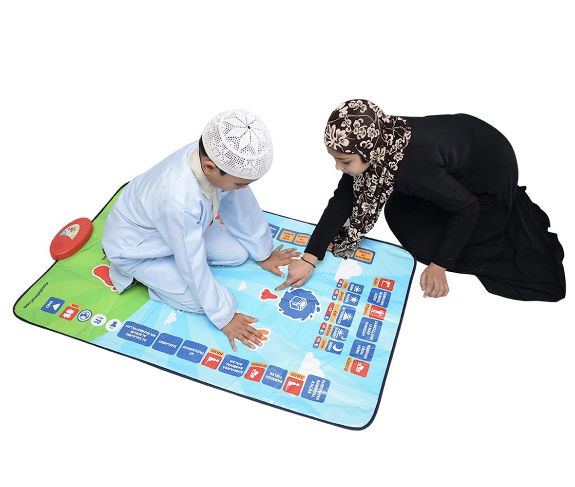 children on salah mat