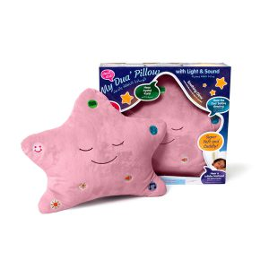 pink pillow with box