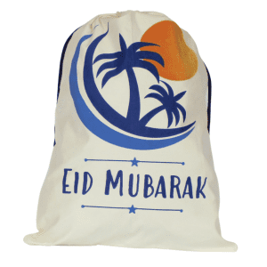 crescent moon design eid gift sack