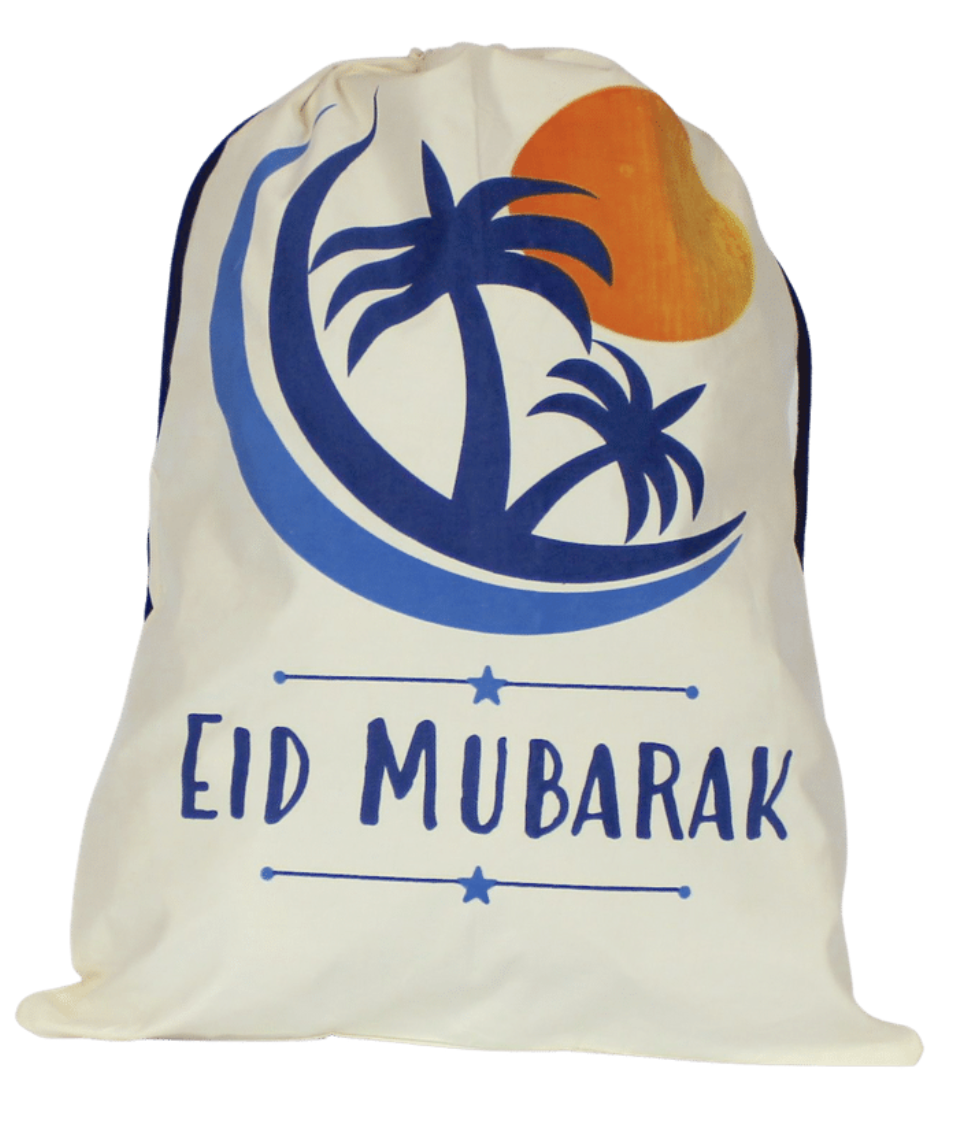 crescent moon design eid gift sack