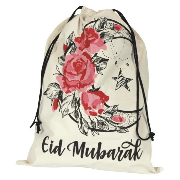 eid gift sack flowery moon design