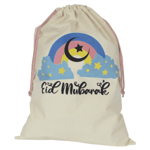eid gift sack rainbow design