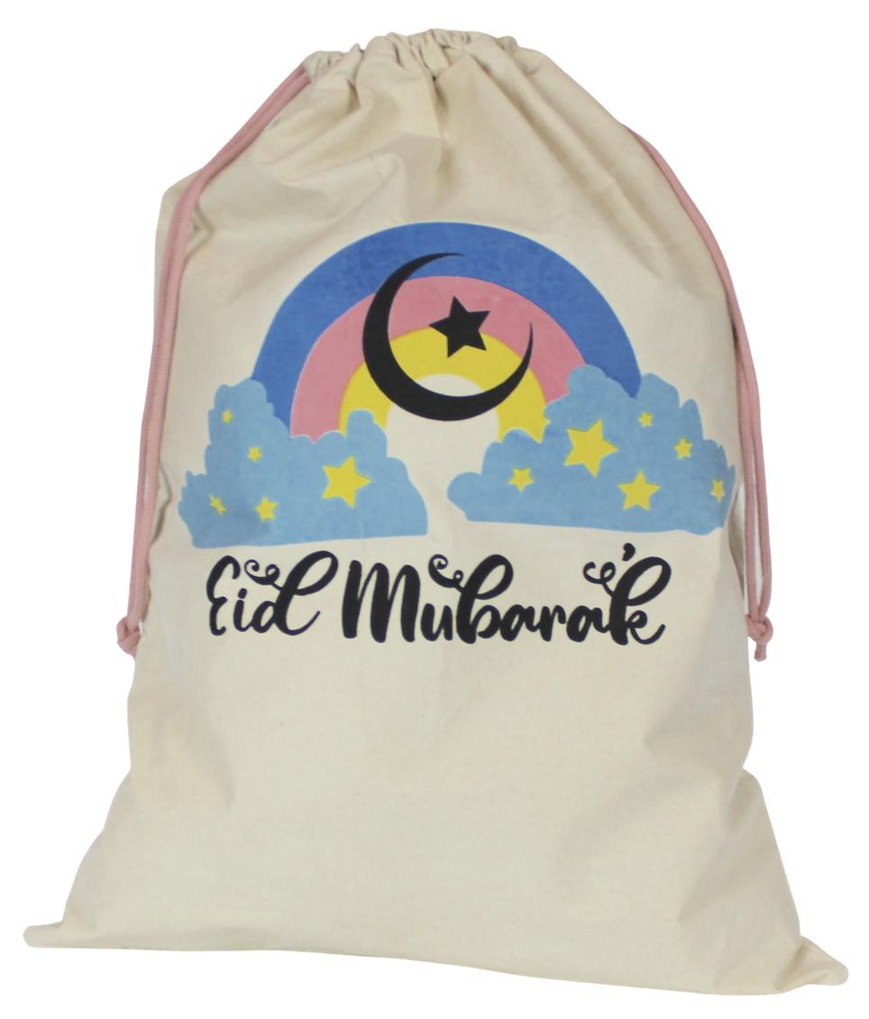 eid gift sack rainbow design