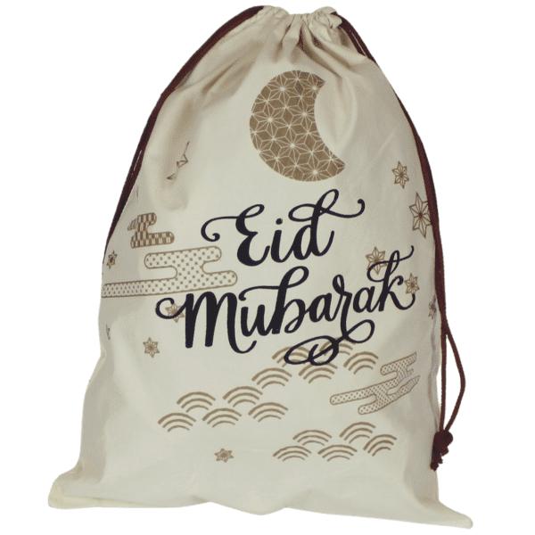 caligraphy gold design eid gift sack