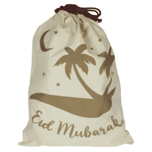 eid gift sack palm trees
