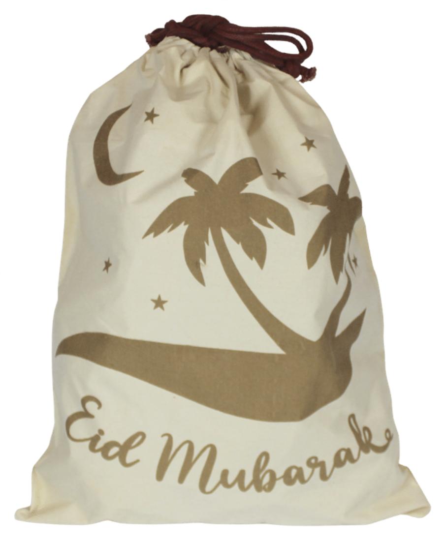eid gift sack palm trees