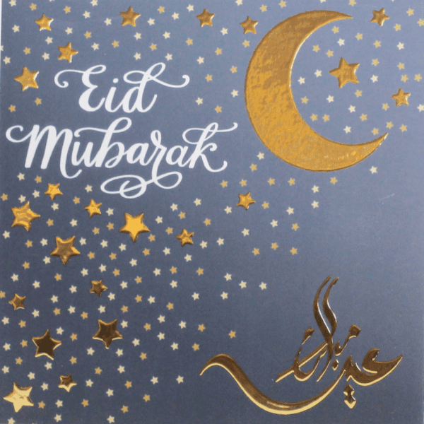 gold foil moon and stars